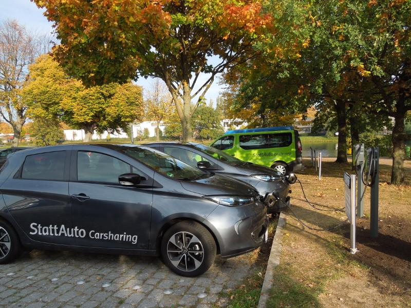 Neue e-CarSharing-Stationen Werkhof und Ziegelstraße